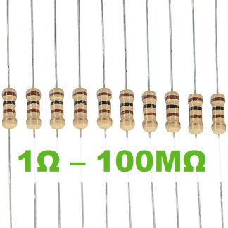 Carbon-Film Resistors 0.5W ±5% (E-12 Series) – 10 per pack