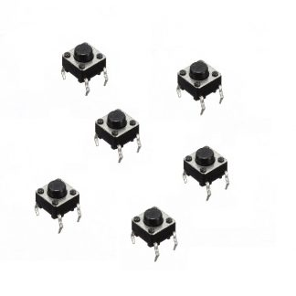 Momentary Push-Button 6mm x 6mm x 5mm (set of 6)