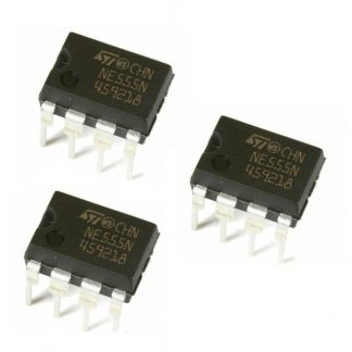 NE555 Timer IC (pack of 3)