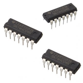 SN74HC04N Hex Inverter Logic IC (pack of 3)