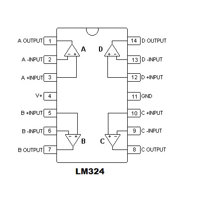 How To Use Lm324 Comparator